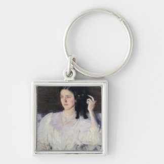 Sita and Sarita, or Young Girl with a Cat Keychain