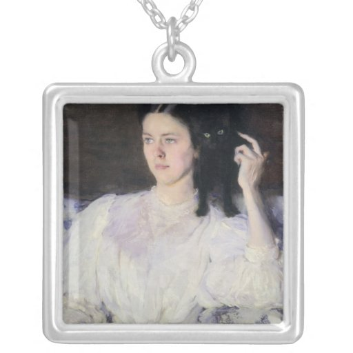 Sita and Sarita, or Young Girl with a Cat Custom Jewelry