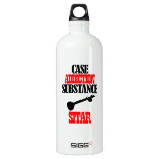 Sitar designs aluminum water bottle