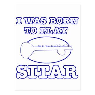 Sitar Designs Postcard