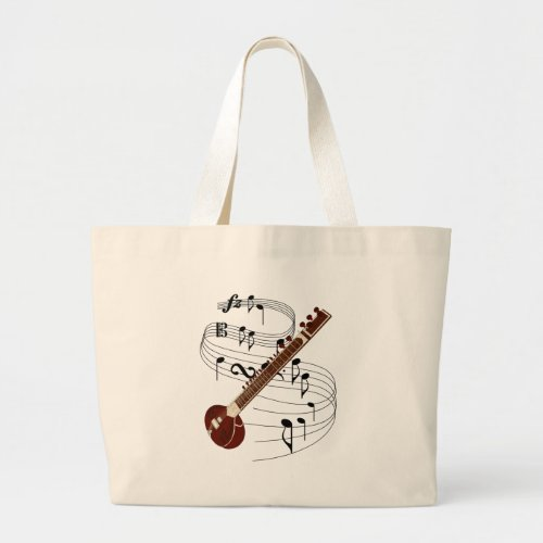 Sitar Large Tote Bag