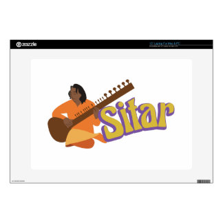 """Sitar Music Decals For 15"""" Laptops"""