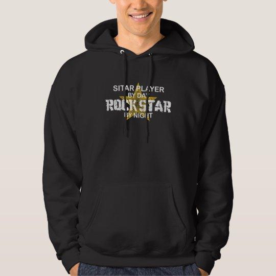 Sitar Rock Star by Night Hoodie