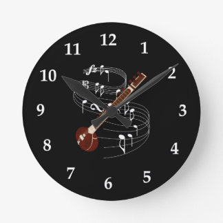 Sitar Round Clock