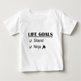 Sitarist Ninja Life Goals T-shirt