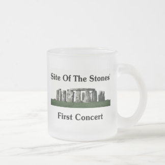 Site Of The Stones' First Concert Frosted Glass Coffee Mug