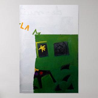 Sitio 2 P del verde del libro del artista de Póster