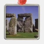 Sitio arqueológico de Stonehenge, Londres, Adorno Cuadrado Plateado