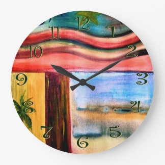 sitio con un reloj de pared de la visión