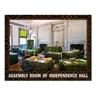 Sitio de asamblea de la independencia Pasillo Tarjeta Postal