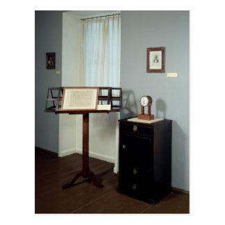 Sitio de Beethoven que exhibe un soporte de música Postales