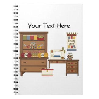 Sitio de costura 1 (personalizable) spiral notebooks