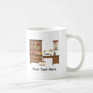 Sitio de costura 1 (personalizable) taza de café