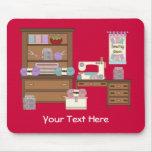 Sitio de costura 2 (personalizado) tapetes de ratón