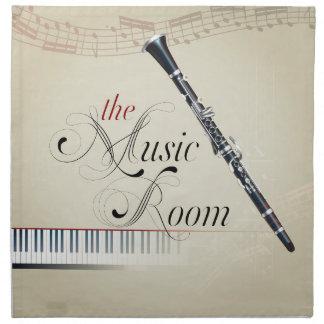 Sitio de la música del Clarinet Servilletas Imprimidas