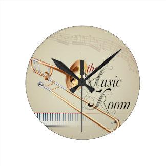 Sitio de la música del Trombone Relojes De Pared
