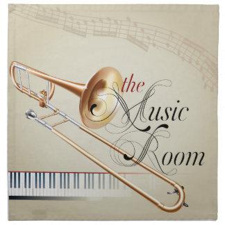 Sitio de la música del Trombone Servilleta Imprimida