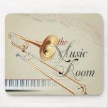 Sitio de la música del Trombone Alfombrillas De Raton