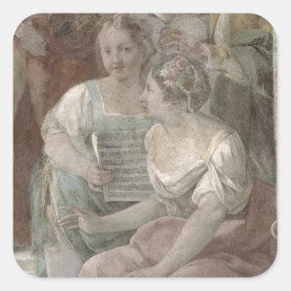 Sitio de la música (fresco) (detalle de 60259) pegatina cuadrada
