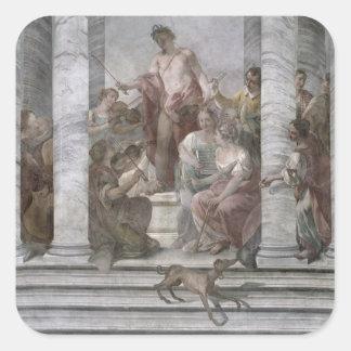 Sitio de la música (fresco) (y detalle 60260) pegatina cuadrada