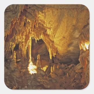 Sitio de la pañería, parque nacional de la cueva calcomania cuadradas personalizadas