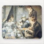 Sitio de la pintura de Sr. Baxter, orfebre Stree d Alfombrillas De Ratones