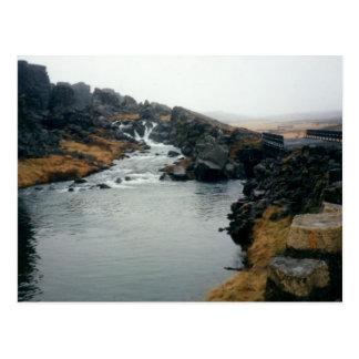 sitio de la UNESCO del þingvellir, Islandia Tarjetas Postales