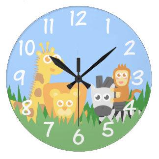 Sitio de los niños - reloj de pared temático de lo