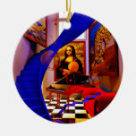 Sitio de Mona Lisa Ornamento De Navidad