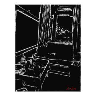 sitio de reclinación blanco y negro del dibujo fotografías