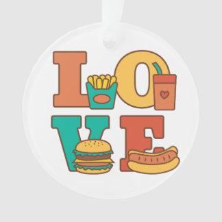 Sitio Décor de Junk Food del amor de las letras
