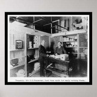 Sitio del efectivo en la cámara acorazada 1912 del posters