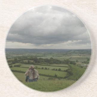 Sitio del festival de Glastonbury del Tor Posavasos Manualidades