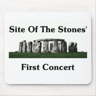 Sitio del primer concierto de las piedras alfombrillas de raton