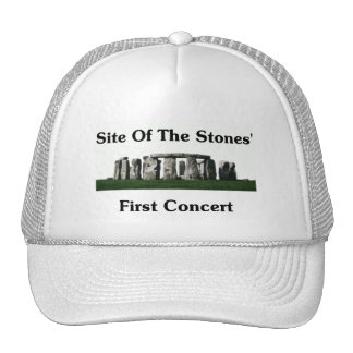 Sitio del primer concierto de las piedras gorra