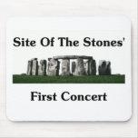 Sitio del primer concierto de las piedras tapetes de ratones