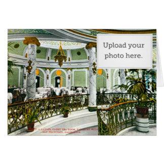 Sitio del té de la corte del laurel tarjeta de felicitación