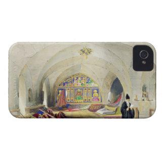 Sitio en un convento armenio, en Jerusalén (color iPhone 4 Case-Mate Cárcasas