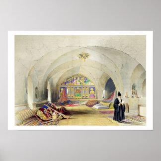 Sitio en un convento armenio, en Jerusalén (color Póster