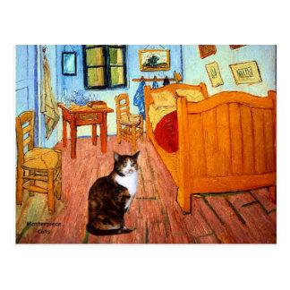 Sitio - gato de calicó postal