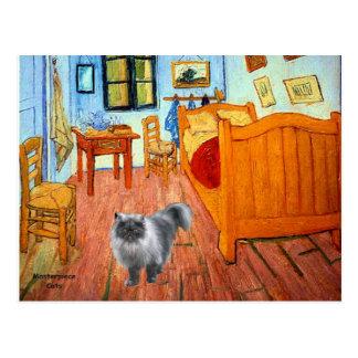 Sitio - gato persa del humo azul postal