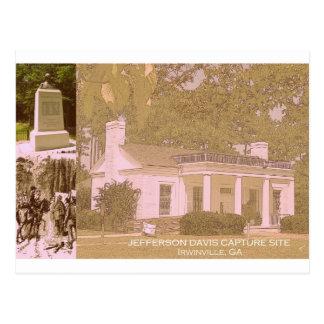Sitio histórico de la captura de Jefferson Davis - Tarjetas Postales