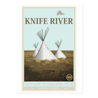 Sitio histórico nacional de los pueblos indios del tarjeta postal
