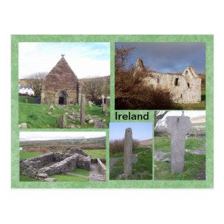 Sitio medieval de Kilmalkedar, Kerry, Irlanda Tarjeta Postal