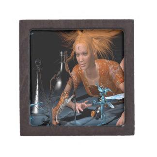 Sitio oscuro mágico de la fantasía abstracta caja de recuerdo de calidad