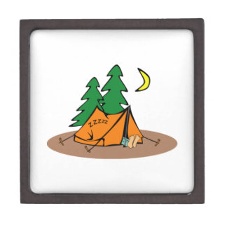 Sitio para acampar cajas de recuerdo de calidad