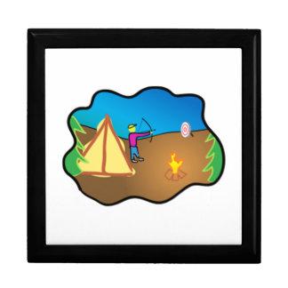 Sitio para acampar caja de recuerdo