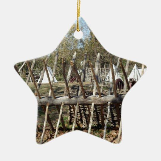 Sitio para acampar colonial de Williamsburg Adorno Navideño De Cerámica En Forma De Estrella