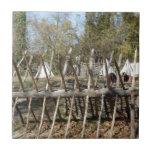 Sitio para acampar colonial de Williamsburg Azulejos Cerámicos