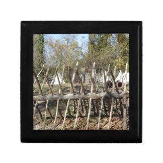 Sitio para acampar colonial de Williamsburg Caja De Recuerdo